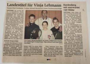 Landestitel fur VInja Lehmann